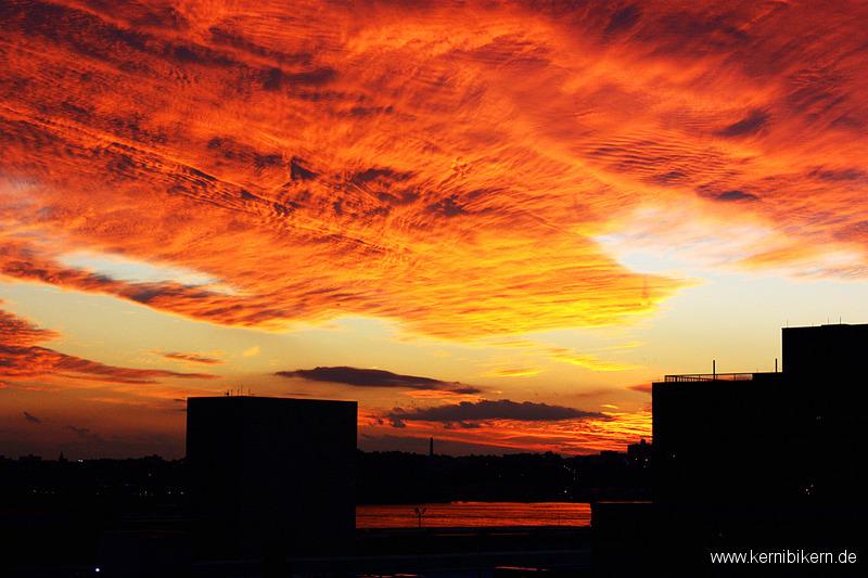 New York: Abendlicher Blick Richtung Hudson-River