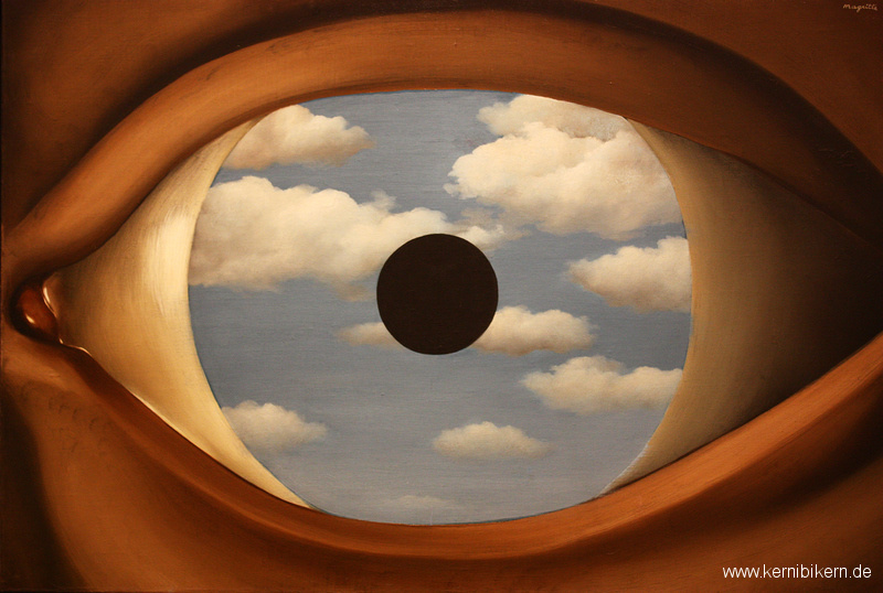 New York: Kunst im MoMA II - Magritte, The False Mirror